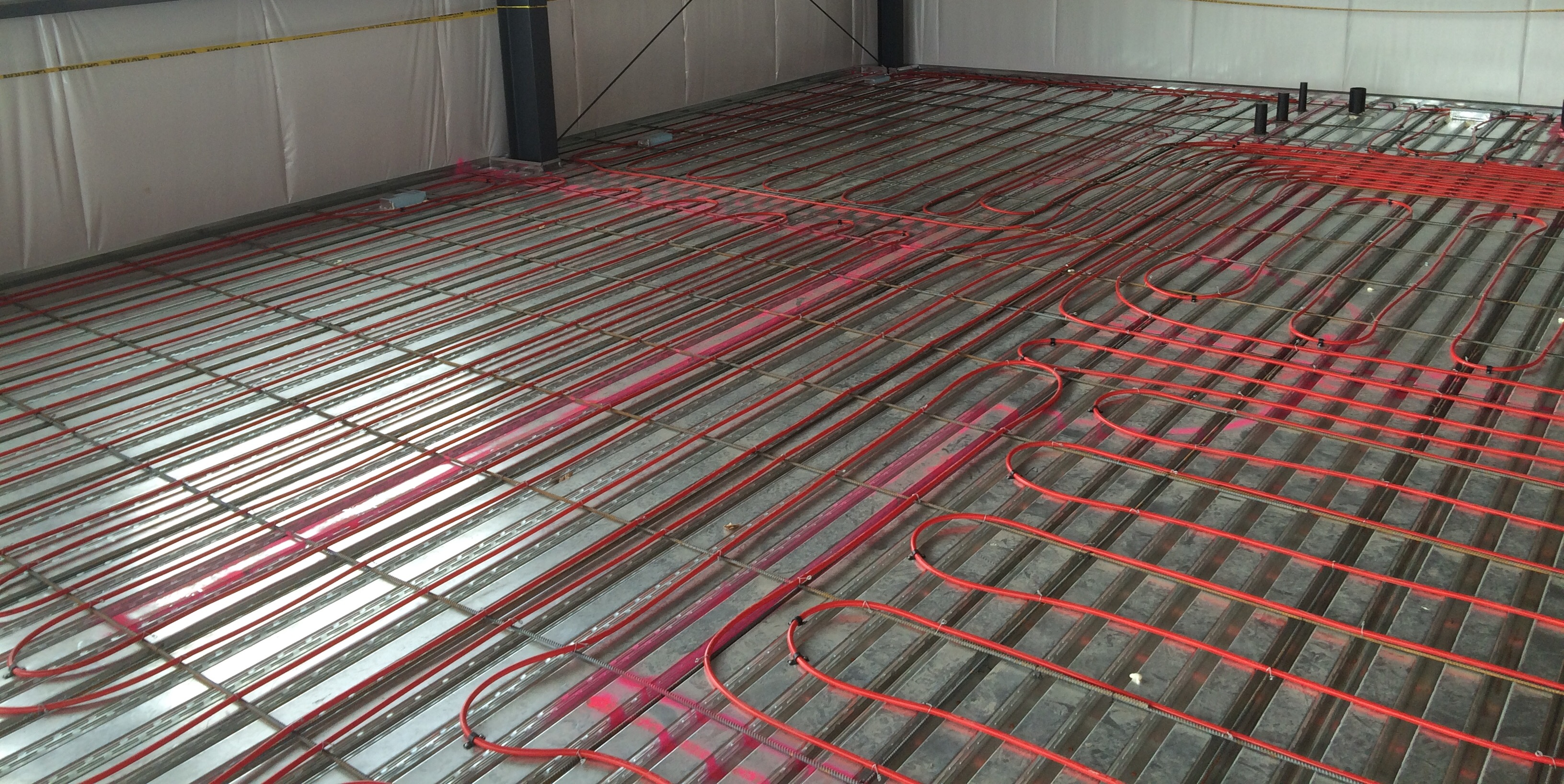 installation out cost much posts roll radiant how ca laid heating floor does for electric rolls en flex instal